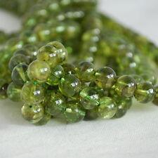 """Grado A Natural Peridoto (verde) redonda con cuentas de piedras preciosas - 4, 6, 8mm 16"""" Strand"""