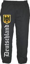 Alemania Pantalón Chándal Para Hombres - Negro - alemán antiguo/EMBLEMA - TALLA