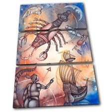 Zodiac Cancer  Starsign TREBLE TOILE murale ART Photo Print