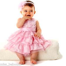 Jessica Baby Flower Girl Dress Headband Birthday Gift Wedding Party Bridesmaid