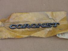 69 70 71 72 73 74 Coronet 440 500 Deluxe NOS MoPar NAMEPLATE EMBLEM Fender Q/P