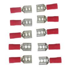 Blue Red 6.3mm Female Spade Connector Crimp Terminal Packs 10, 20, 50, 100, 500