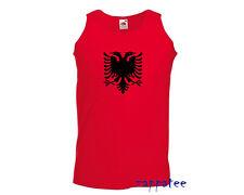 Albania Vest - Albanian flag red vest for gym, jogging, summer holiday etc