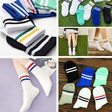 Classic Long Socks Retro School Cotton Women Men Sport Skate Football Basketball