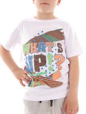 BRUNOTTI tee-shirt haut t-shirt d'été manches courtes Adams blanc col rond