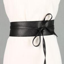 Women Faux Leather Belt for Dress Trench Coat Overcoat Jacket Woolen Sash Tie