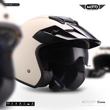 Moto S77 Creme Jet casque Vespa Moto Scooter Casque de Moto Helmet - XS - XL
