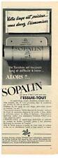 PUBLICITE ADVERTISING   1952   SOPALIN  essuie tout