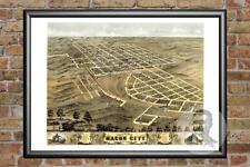 Old Map of Macon City, MO from 1869 - Vintage Missouri Art, Historic Decor