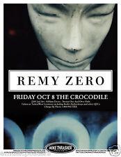 REMY ZERO 2010 SEATTLE CONCERT TOUR POSTER-ALTERNATIVE