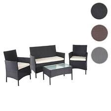 Poly-Rattan Garten-Garnitur HWC-D82, Sitzgruppe Lounge-Garnitur