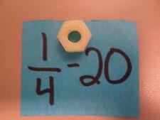 1/4-20 Nylon Hex Nuts (50)