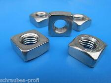 quadrata dado DIN 557 / DIN 562 m2 - M16 acciaio inox V2A o Zincato