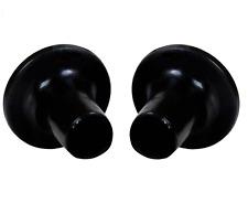2 x Coppia di pulizia proteggi-tallone Tacchi Alti-HIGH, Mid & Tacco Basso-Nero/Trasparente