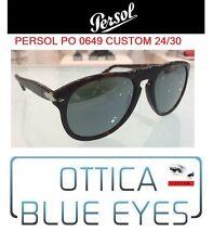 Persol 0649 649 CUSTOM 24/30 SILVER MIRROR ORIGINALI Sunglasses Steve McQueen