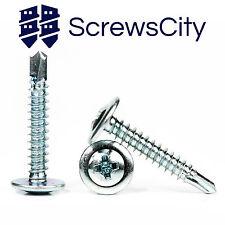 4.2mm SELF DRILLING WAFER HEAD TEK METAL / DRYWALL SCREWS VARIOUS LENGTHS