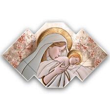 Quadro religioso Maternità su pannello in legno sagomato disponibile in 2 misure