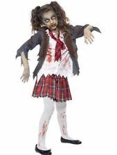 Smiffy's Kinder Halloween Zombie School Girl Kostüm