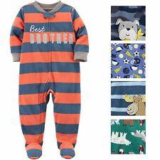 Carters Baby Boys Printed 1 Piece Fleece Footy Pajama