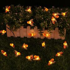 Light String Solar Decorative Light LED Bee Shape Warm White Fairy String Lamp