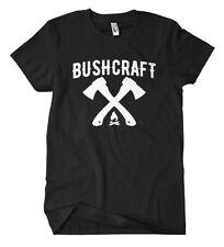Bushcraft T-Shirt Fun Kult Zelten Campen Prepper Survival Outdoor Apocalypse