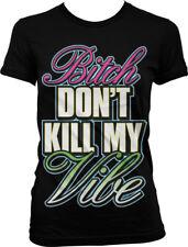 Dont Kill My Vibe Lyrics City Control Neon Music Song Juniors T-shirt