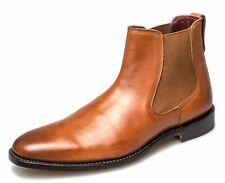 Distribuidor De Chelsea London Cuero Calado Harvey para Hombre Boots tan Cuero Tamaño