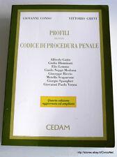 CONSO GREVI PROFILI DEL NUOVO CODICE DI PROCEDURA PENALE CEDAM 1996 AMPL. AGG.