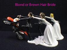 Motorcycle Wedding Cake Topper W/ Sexy KTM Duke Track Dirt Groom Top Racing Fun