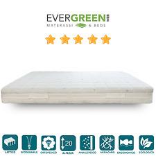 Evergreenweb Materasso Lattice 100% con tessuto Cool Max H20 | Latex Cool
