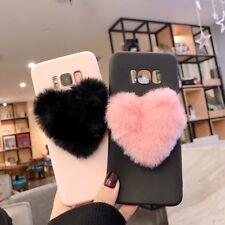 Pour Coque Samsung Galaxy S10 Plus 3D Amour Coeur Boule De Fourrure Couverture