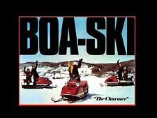 BOA-SKI SNOWMOBILE PARTS MANUAL & Brochure Set - 140pg for BoaSki Sled Repair