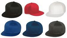 Original FLEXFIT® NEW PRO Baseball Flatbill Blank Fitted Flat Bill Cap Hat f6297