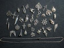 collana acciaio metallo charms catenina tanti modelli bigiotteria pendoli regalo