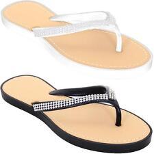 Women's Casual Summer Flip flops Shoes Ladies Comfy Diamante Thong Sandal