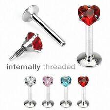 Piercing Labbro Monroe Madonna Gioiello PIERCING cristalli zirconi cuore
