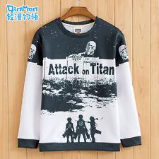 Anime Attack on Titan 進撃の巨人 Thick Crew Neck Sweatshirts Coat Pullover Warmth #