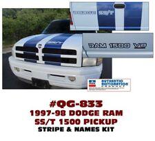 QG-833 1997-98 DODGE RAM - RAM SS/T STRIPE & DECAL KIT - LICENSED