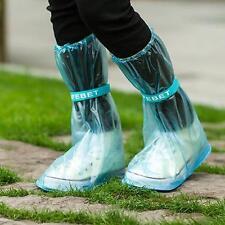 Girl Women Waterproof Boot Rain Shoes Cover Non-slip Shoe Covers Overshoes W