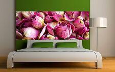 Papier peint tête de lit Pétales de rose  Art déco Stickers