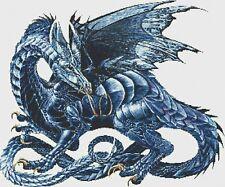 BLUE DRAGON # 2 - COUNTED CROSS STITCH CHART