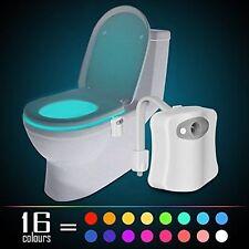 16 color LED Toilet Bathroom Night Light Human Motion Activated Bowl Sensor Lamp