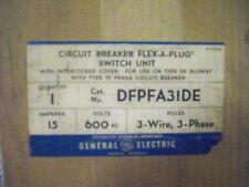 """GE DFPFA31DE 15A 3PH 3W 600V """"TF"""" Breaker Type DE Busplug New Surplus"""