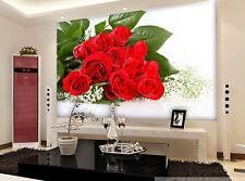 3D Rouge Rose 196 Photo Papier Peint en Autocollant Murale Plafond Chambre Art