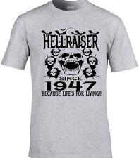 Hombre Cumpleaños T-SHIRT 70th 1947 Cualquier Año Hellraiser Diseño Único Regalo