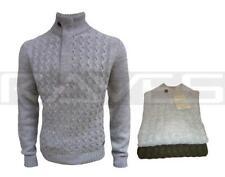 Da Uomo Holmes & Co IM1065 Lavorato a Maglia Maglione Pullover 2 Colori S M L e XL
