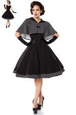 Belsira Damen Kleid Swing mit Cape 34 36 38 40 42 44 46 Rockabilly Vintage