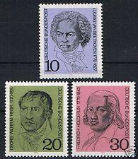 616-618 ** BRD 1970, Beethoven, Hegel, Hölderlin