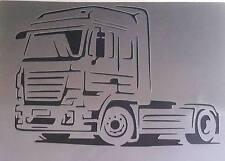 #2 Truck Airbrush Stencil Template Man Mercedes Scania Volvo Kamaz Paint Art