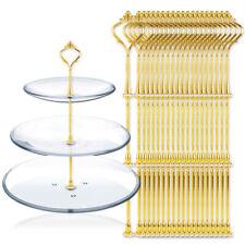 5/10/20pcs Poignée Support Assiettes 3 étages Présentoir Gateau couronne doré